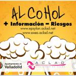 Folleto alcohol de la campaña '+ Información, -Riesgos'. /Aclad.